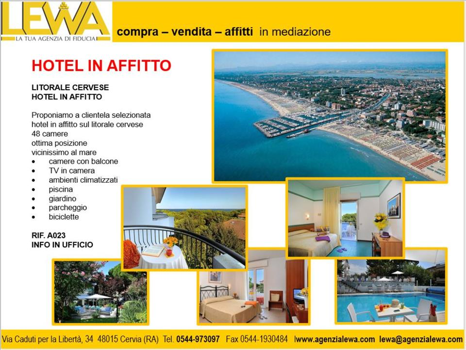 LITORALE CERVESE HOTEL IN AFFITTO